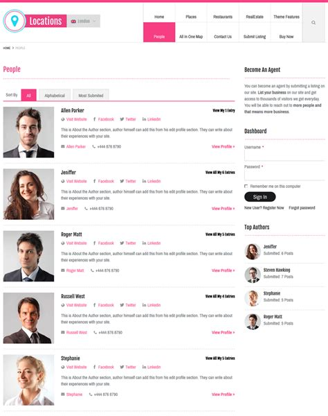 locations directory theme wp local business directory