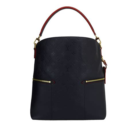 louis vuitton melie monogram empreinte leather marine rouge  gold hardware  boutiqi bags