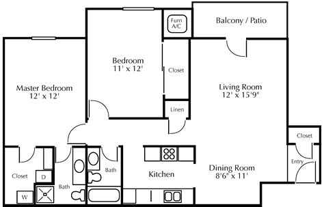 Floor Diagram by Dh Gustafson Company Residential Housing Minneapolis St