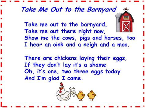 farm songs for preschoolers a s touch take me out to the barnyard song freebie 683