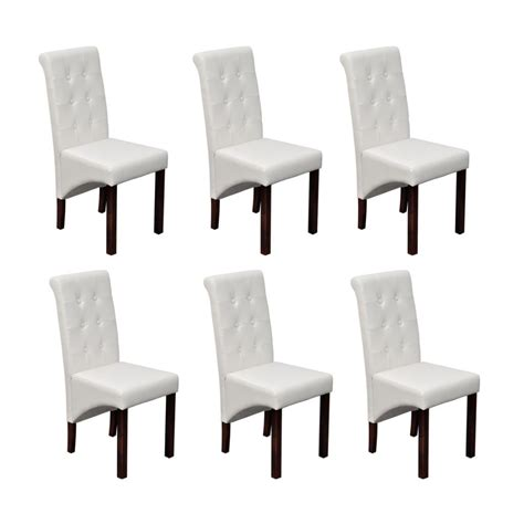 lot de 6 chaises la boutique en ligne chaise antique simili cuir blanc lot
