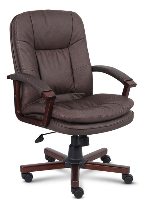 brown bomber leather office chair  thomas hom furniture