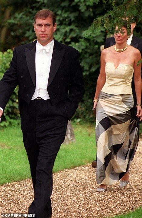 Prince Andrew at Ascot races with Ghislaine Maxwell and ...