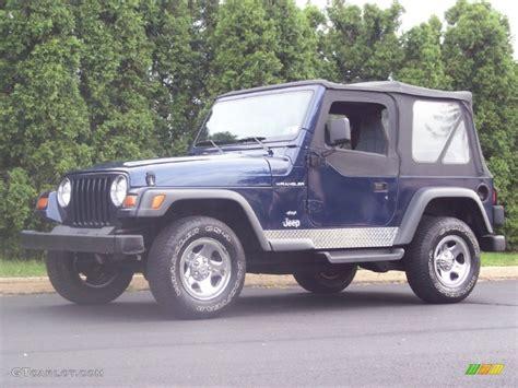 jeep dark blue 1997 dark blue pearl jeep wrangler se 4x4 54418611