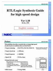 Synthesis Guide V110e