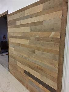 reclaimed barn wood wall paneling kits With barn wood plank walls