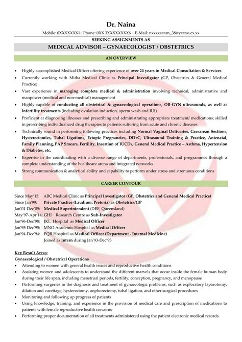 doctor sample resumes  resume format templates