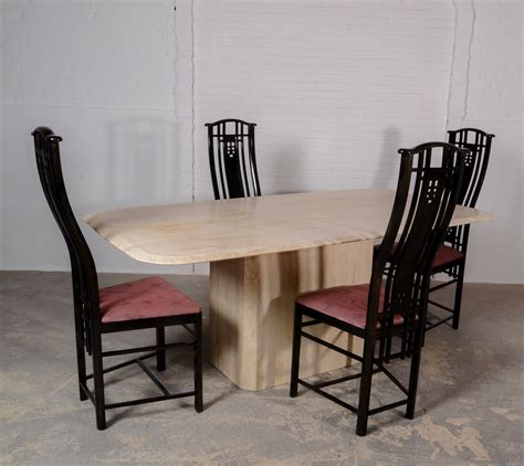 Exclusive Midcentury High Back Dining Chairs For