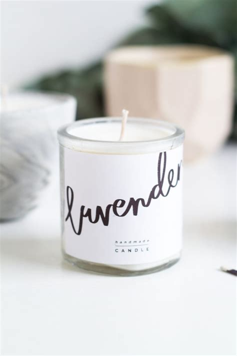 diy scented candle gifts  printable labels fall