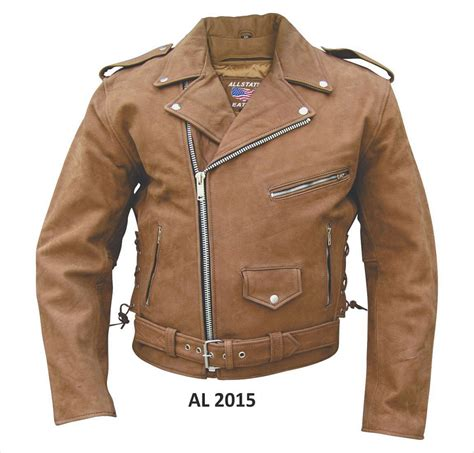 brown leather motorcycle jacket allstate men 39 s basic brown leather motorcycle biker jacket