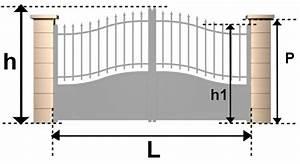 Portail 3 Metres : d couvrez la dimension standard de portail battant et ~ Premium-room.com Idées de Décoration