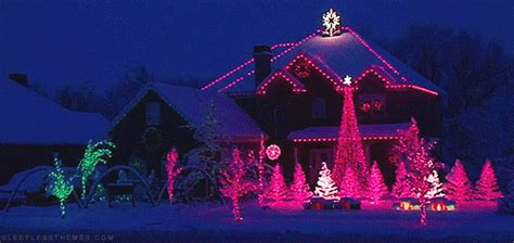 snowing christmas lights gifs find share on giphy