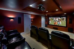 Ashburn Transitional Basement - Theatre Room - Contemporary - Home Theater - Other