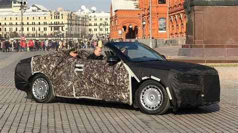 russian aurus convertible spotted based on vladimir putin s limousine