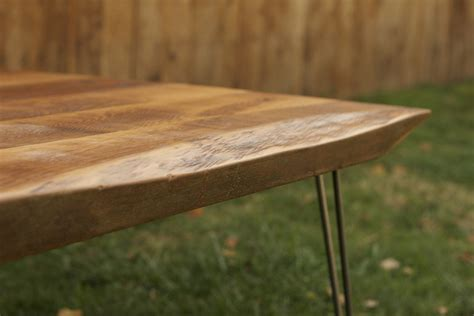Many folks choose to stain and apply a clear coat finish to protect raw wood. Arbor Exchange | Reclaimed Wood Furniture: Rustic Coffee ...