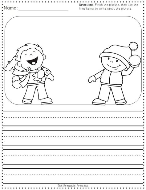 winter activities for kindergarten free writing amp 152 | b7ffa248c6cf0acd80551e19a1ea1ded