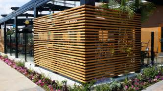 restaurant patio fencing planters patio fences and