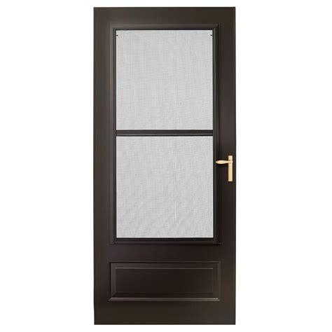 emco screen door emco 36 in x 80 in 300 series bronze universal