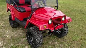 Custom Reconditioned Club Car Precedent Jeep Electric Golf Cart For Sale From Saferwholesale Com