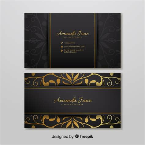 business card template ready to print business card template in style vector free
