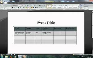 Systems Analysis Modeling- Event Tables Avi