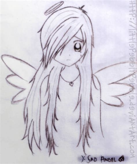 sad angel anime drawings  pencil hd wallpaper gallery