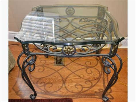wrought iron end tables with glass tops set of 3 pcs wrought iron coffee side tables with glass