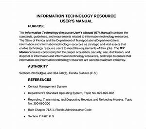 Free 6  Sample It Manual Templates In Pdf