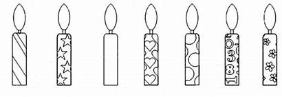 Candle Coloring Birthday Pages Netart