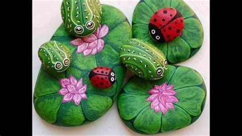 beautiful stone painting ideas sama crazy video youtube