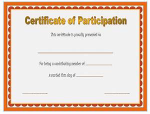 Certificate Of Participation Template Free Participation Certificate Template 6 SS Professional And High Quality Templates