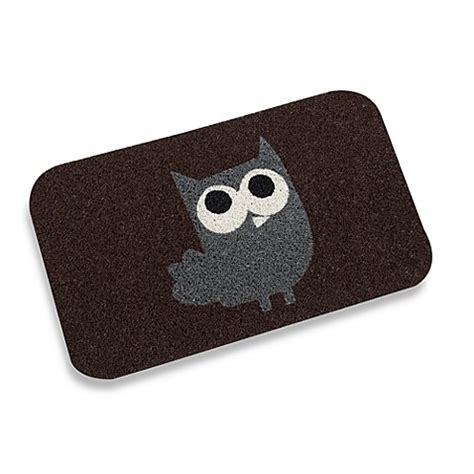 Kikkerland Doormat by Kikkerland 174 18 Inch X 30 Inch Owl Door Mat Bed Bath Beyond