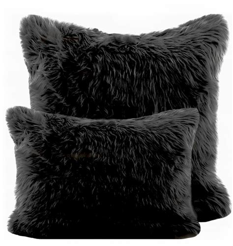 black fur pillow 1000 ideas about black bedroom furniture on