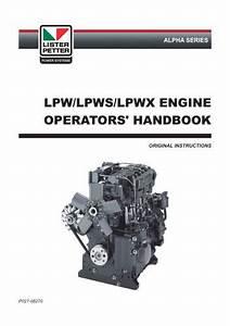 Lpw  Lpws  Lpwx Engine - Lister Petter