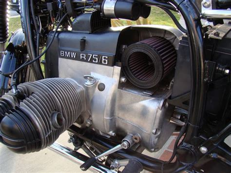 k n air filter loaded into the air box classic bmw airhead motorcycles the o