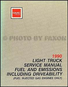 1990 Gmc G Van  Vandura Wiring Diagram Manual Original