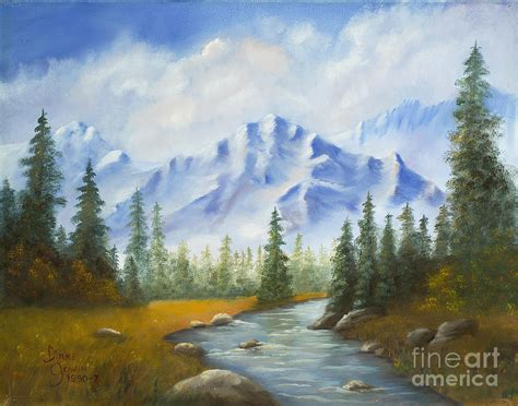 Fall Mountain Scene Painting By Diane Gowin