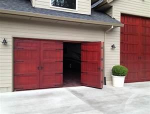 bi fold carriage doors 16 ft x 8 ft insulated wood With 16 foot overhead garage door
