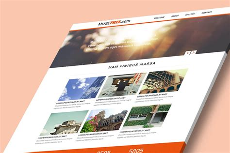 free website design free website design theme for adobe muse by musefree