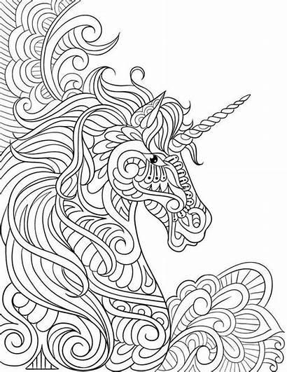 Mandalas Unicornios Colorear Imprimir Pintar Kawaii Imagenes