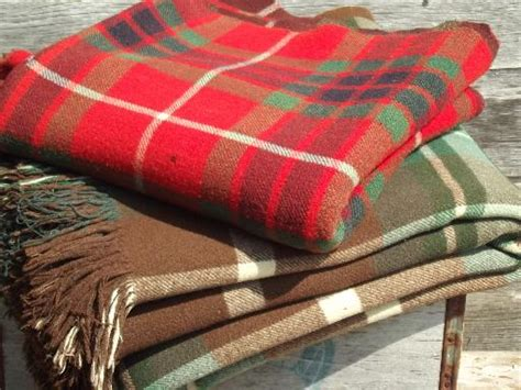 Very Heavy Old Plaid Wool Hunting Camp Trapper's Blankets, 20s Vintage How To Make A Stroller Blanket Baby Blue Blankets Ohio State Sweatshirt Lace Crochet Navajo Designs Pillow Pets Adult Dream Tracey Emin