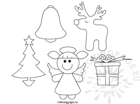 christmas ornament patterns coloring page