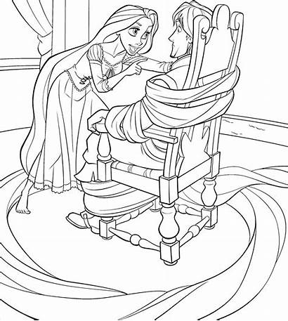 Rapunzel Mewarnai Gambar Putri Coloring Tangled Ads