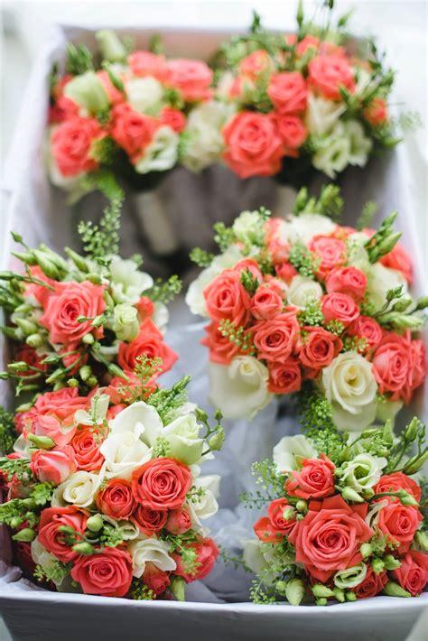 vanessa  stephens beautiful coral  cream wedding