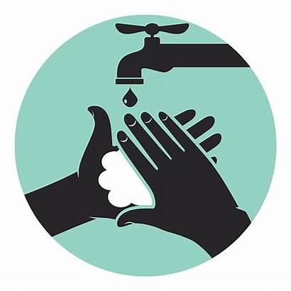Hands Washing Wash Vector Hygiene Soap Illustrations