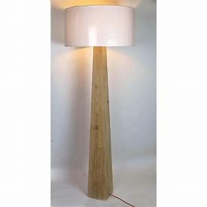 Lampe Haute Sur Pied : lampadaire bois brut lampe bois flott loftboutik ~ Teatrodelosmanantiales.com Idées de Décoration