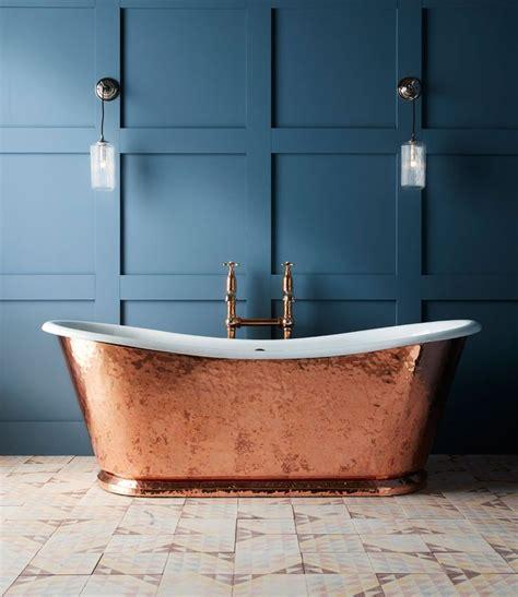 hammered copper wye bateau cast iron bath tub