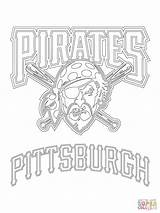 Coloring Pittsburgh Baseball Pirates Mlb Penguins Printable Logos Rockies Colorado Pirate Mets Penguin Royals Team Crafts Teams York Nhl Kansas sketch template
