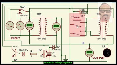 v guard voltage stabilizer circuit diagram wiring voltage stabiliser stabilizer youtube