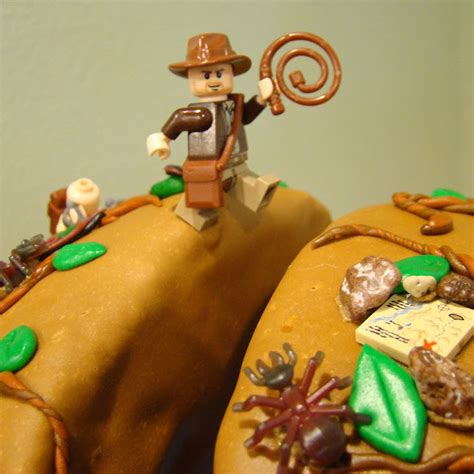 cake stand indiana jones birthday cake